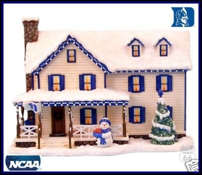 Ridgewood Duke Blue Devils Basketball Family Winter House Limited EDTION Figure Figurine