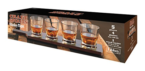 Libbey Tall Whiskey - Libbey 5130YS4 5 Piece Whiskey Flight, Clear