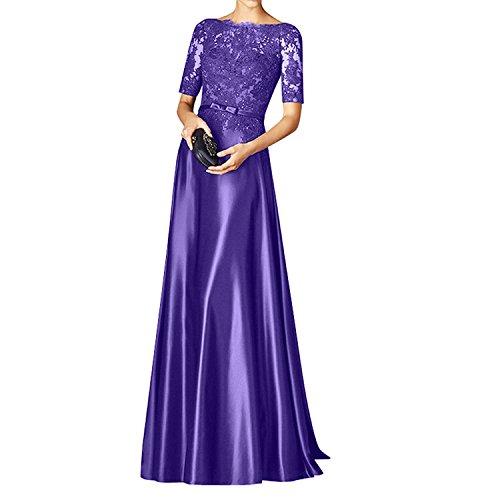 Glamour Langarm Etuikleider Charmant Spitze Damen Figurbetont Abendkleider Lila Brautmutterkleider Festlichkleider PwqFxZt