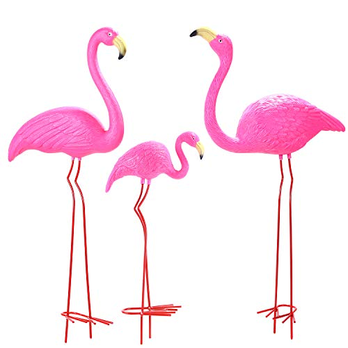 Ohuhu Family Flamingo Yard Ornaments, Set of 3 (32