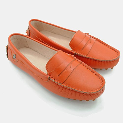 Minitoo ,  Damen vorne geschlossen Orange-Nubuck Leather