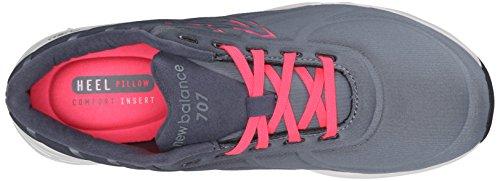 New Balance de las mujeres wf707V1Fitness formación zapato Gris oscuro/Negro
