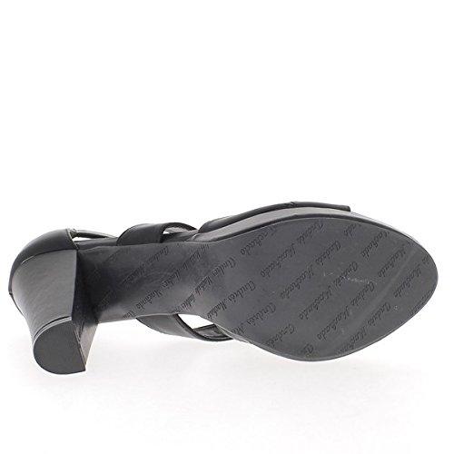 Taille Plateforme Noires à et Brides épais Talon cm Grande DE 12 Larges Sandales 57xqwFBE