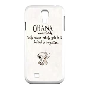 DiyCaseStore Custom Disney Animation Lilo and Stitch Samsung Galaxy S4 I9500 Case Cover - Ohana means family,family means nobody gets left behind,or forgotten.