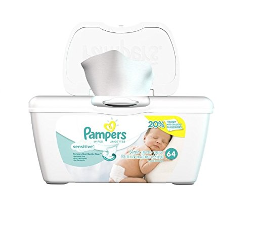 Price comparison product image Pampers Sensitive Wipes Tub 64 CT (Pack of 4)