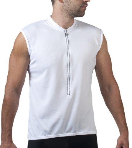 Sleeveless Cycling Jersey - White - Size X-Large