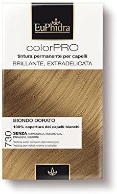 EuPhidra - Tinte Color Pro 730, coloración permanente sin amoniaco - Rubio Dorado