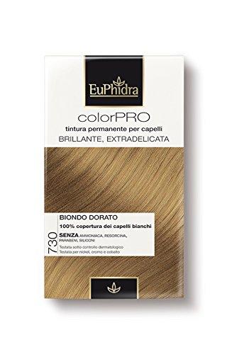 Euphidra Tinta Color Pro 730 Colorazione Permanente senza ammoniaca BIONDO  DORATO  Amazon.it  Bellezza 2c6e3c839600