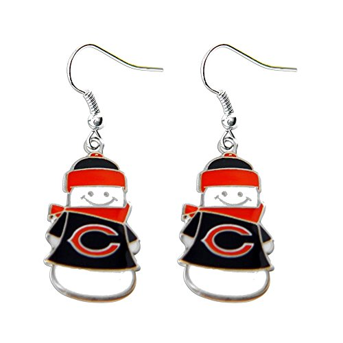 (NFL Chicago Bears Snowman Earrings)