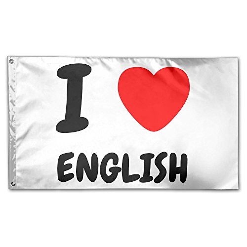 Colby Keats I Love English Garden Lawn Flags Indoor Outdoor Decoration Home Banner Polyester Sports Fan Flags 3 X 5 Foot