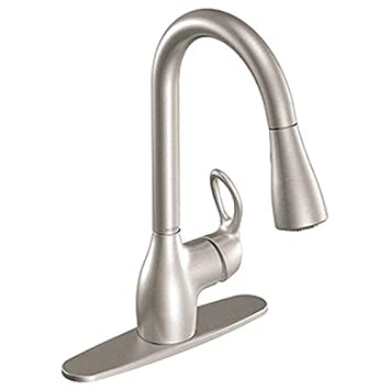 Moen Ca87011Srs Single Handle Kitchen Faucet With Pullout Spray