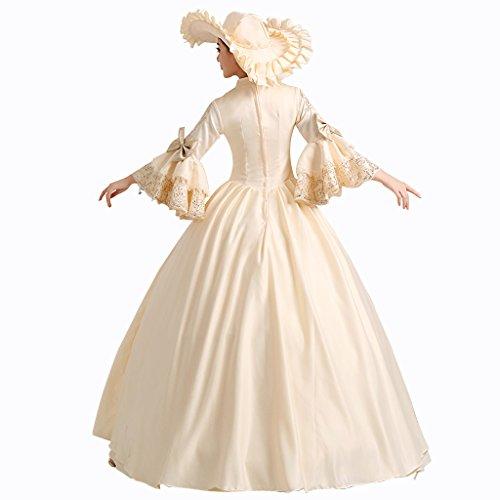 Lagerter Kleid Weiß Damen Abendkleid Kostüm Kleid Königin Maskerade viktorianischen Mädchen Cosplayitem Prinzessin Gothic Palace 6BEnwXnq