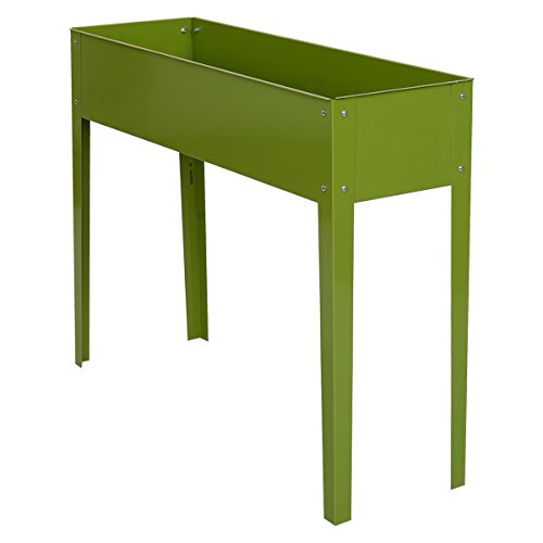 """Giantex 40""""x12"""" Outdoor Elevated Garden Plant Stand Raised Tall Flower Bed Box (39.7""""L x12.6W"""" x 31.5""""H)"""