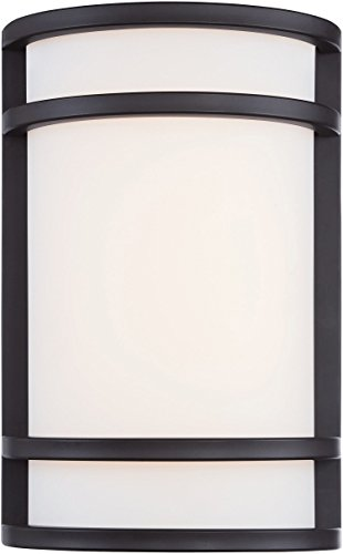 (Minka Lavery Outdoor 9802-143-L, Bay View Outdoor Wall Sconce Lighting LED, Oil Rubbed Bronze)