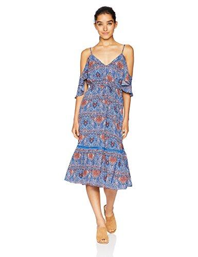 Express Womens Dresses (Jack by BB Dakota Junior's Marrakeh Express Printed CDC Dress, True Blue,)