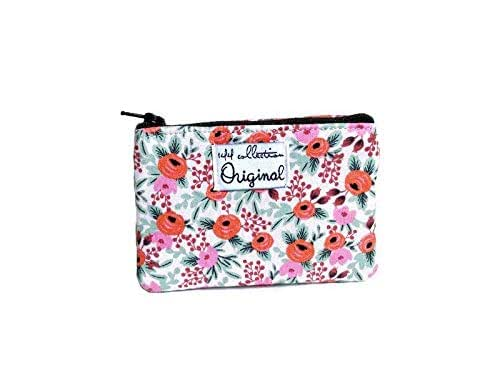 Change Purse Wallet for Women Liberty Wallet Coin Purse Floral Small Zipper Pouch