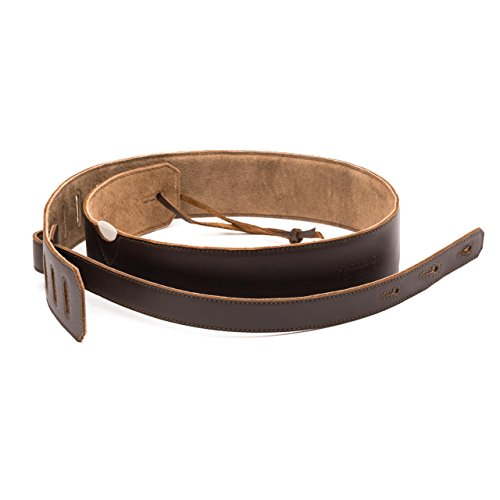Pigskin Grain (Saddleback Leather Guitar Strap - 100% Full Grain Leather Strap for Acoustic, Electric, Classical and Bass Guitars with 100 Year Warranty)