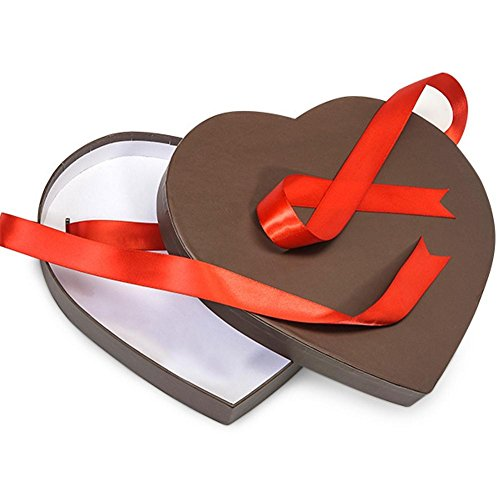 Chocolate Brown Large Matte Heart Shaped Boxes - 9 1/4 x 8 1/8 x 1 1/4in. - 39 Pack by NW
