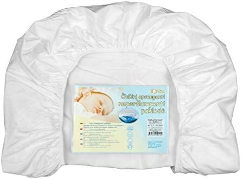 protector de colch/ón fabricado en la UE unisex Lorita S/ábana bajera ajustable impermeable 120 x 60 cm