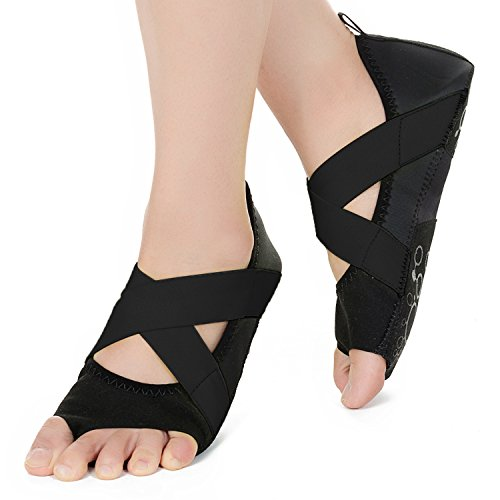 Pilates Balletto Yoga Mezza con Antiscivolo Bellarina per Nero Donna Barre Punta Scarpe JOINFREE aqvgAUW