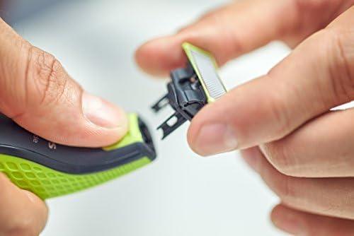 Philips Norelco OneBlade Cuchilla de recambio QP220/50 - Accesorio para máquina de afeitar (Shaving blade, Negro, Verde, Acero inoxidable, QP25xx, QP65xx): Amazon.es: Salud y cuidado personal