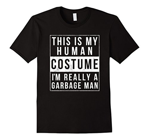 Mens I'm Really a Garbage Man Funny Halloween Costume Shirt 2XL Black