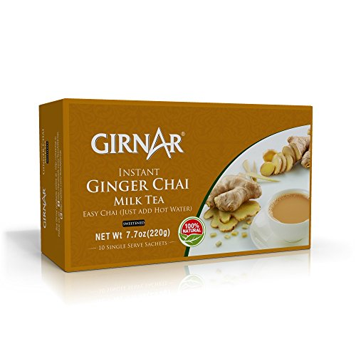 Girnar Instant Chai (Tea) Premix With Ginger 10 Sachet Pack