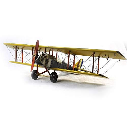 VJUKUBWINE Antique World War I Yellow Curtis Jane Plane - Fine Edition Model Tinplate Hand Made Retro Iron Art Home Car Decoration Decoration Arrangement Photography Props 6846.516cm by VJUKUBWINE (Image #7)