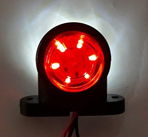 da 12/V e 24/V roulotte piccole luci laterali con attacco corto in gomma camper per telaio di camion camion con cassone ribaltabile camper 4/lampadine da 12/LED rimorchio van