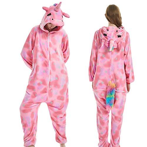 ONFUNU Unisex Adult Teens Plush Animal Hood Onesie Pajamas One Piece Sleepwear Halloween Costumes Cosplay -