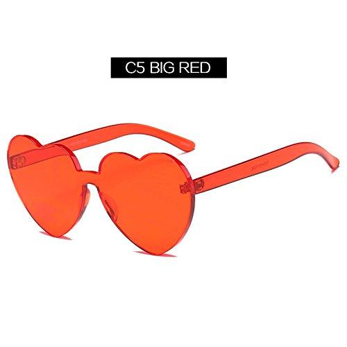 Para Melocotón Sol De Mujer Corazón Forma Estilo Forma C5 Eyewaer De Sol Mujer Amor De La De Gafas KLXEB Mujeres De C7 Uv400 Gafas 7Pq6wI8