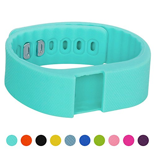Soft Silicone Band for Teslasz Fitness Tracker in 10 Colors,Mint Green