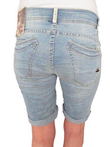 Pantaloni Donna pantaloncini Buena Stretch MALIBU Vista bermuda Medio Blue DISORDINE Jeans 0waHOq