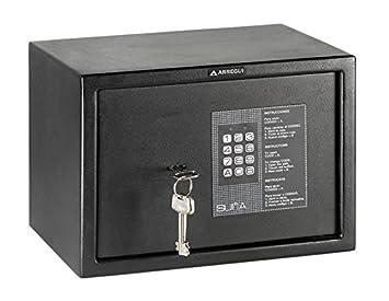 Arregui 31020 Caja fuerte de sobreponer electrónica con llave. 350x380x360 mm Negro texturado 350 x 380 x 360 mm: Amazon.es: Bricolaje y herramientas