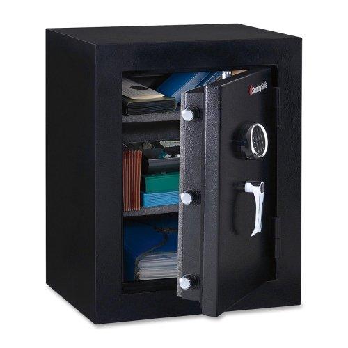 "Sentry Safe Fire-Safe Executive Safe - 3.40 ft - Electronic Lock Bolt(s) - 27.8"" x 21.7"" x 19"" - Black"