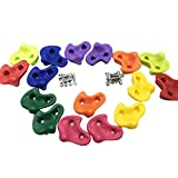 16 Pcs Oversized Pig Nose Shape Rock Climbing Holds for Kids - Hardware Kit Included