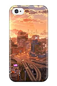 Durable City Artistic Abstract Artistic Back Case/cover For Iphone 4/4s