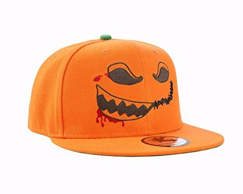 Halloween Scary Pumpkin Orange Snapback Baseball Cap (Scary Halloween Pumkins)