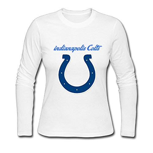 Women's Fashion Indianapolis Colts Long Sleeve Tshit White US Size ()
