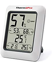 ThermoPro TP50 Digital Indoor Room Thermometer Hygrometer Monitor Temperature and Humidity Meter for Home Office Nursery Comfort, Min/Max Records
