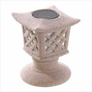 Koehler Outdoor Home Garden Decorative Ceramic Ancient Solar Pagoda Light - Ceramic Pagoda Lantern