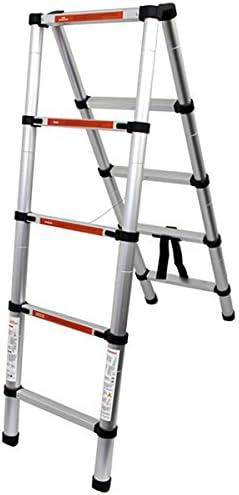 WEIMALL アルミ製 伸縮はしご 最長 1.4m 収納時61.5cm 足場 安全ロック付き