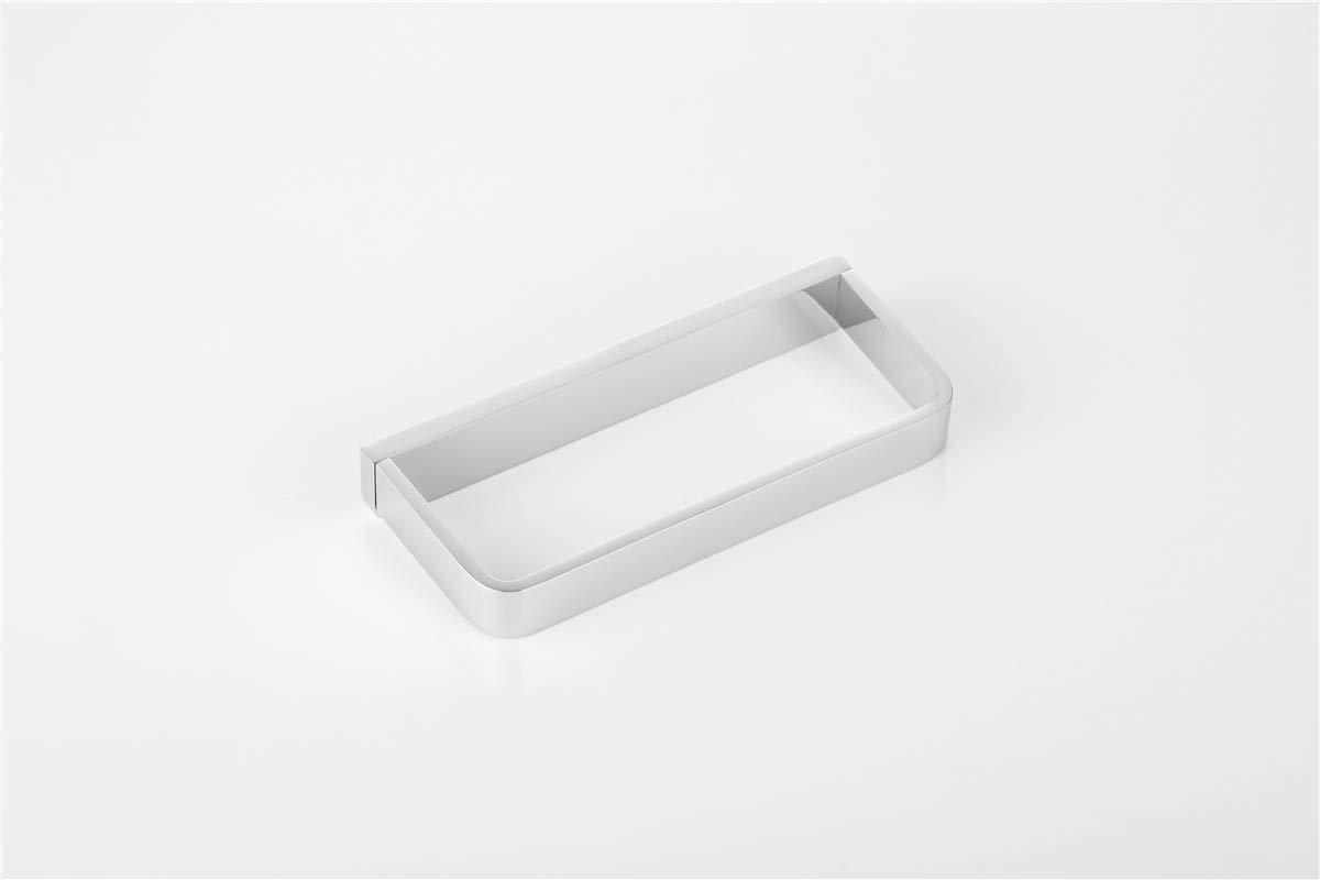 Flybath geschlossen Handtuch Ring massivem Messing verchromt Handtuchhalter Wand montiert Silber Quadrat Zubeh/ör