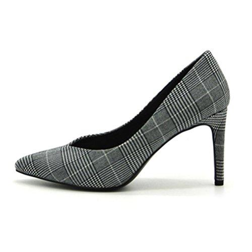 XIE Les femmes haut talons Shallow Mouth talon pointu chaussures simples chaussures confortables mode femmes pink blue 800dPc2