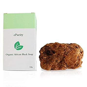 0ca4602e Organic Raw African Black Soap - Premium Quality - 100 % Organic - Skin  Care for Acne, Eczema, Dry Skin, Ageing Skin and More - 120g - Ethically  Made, Vegan ...