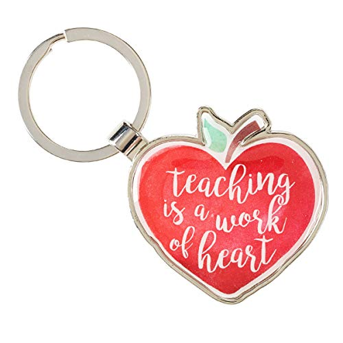 Teaching is a Work of the Heart Keyring, Colossians 3:23, Teacher Collection