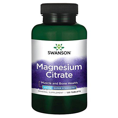 Swanson Super-Strength Magnesium Citrate 225 Milligrams 120 Tabs - Magnesium Citrate 120 Tabs