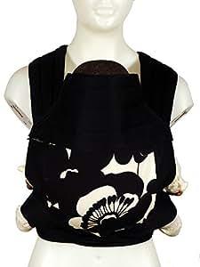 BabyHawk Meh Dai (Mei Tei) Baby Carrier - - Sophia Black on Black Straps