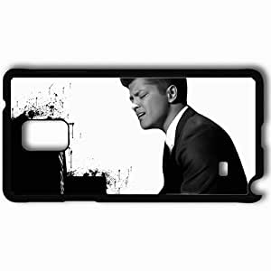 Personalized Samsung Note 4 Cell phone Case/Cover Skin 2013 free bruno mars Black