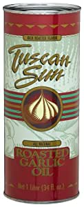 Tuscan Sun Roasted Garlic Oil, 33.8-Ounce Tins (Pack of 4)